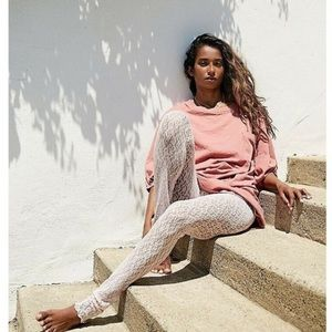 Free People Layered In Lace Leggings in Blush